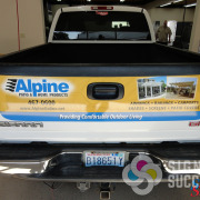 Advertise your business on the tailgate with a unique, custom wrap. Signs for Success can design, print and install, we have certified installers.