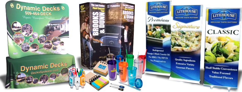 Promotional Products, Tradeshow displays and more