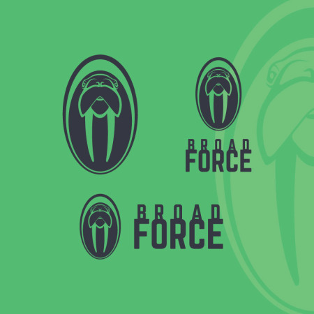 Local manufacturing company, Broad Force, needed a new, simple logo, the walrus idea was all theirs, but the whole design was by Signs for Success