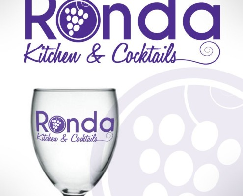 New logo designed by Signs for Success in Spokane, for fast sign service for Ronda Kitchen & Cocktails