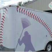 Major League Lawn Care Trailer Graphics, custom designed by Signs for Success. Let us help you with your next vehicle wrap, we have certified installers