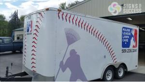 Major League Lawn Care Trailer Graphics