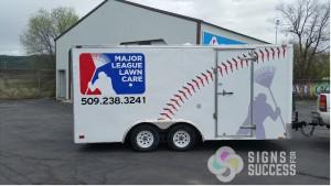 Trailer Graphics Major League Lawn Care