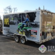 Trailer Wrap for Pape Machinery, call for fast signs now in north Spokane