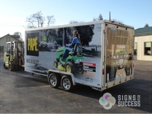 Trailer Wrap for Pape Machinery