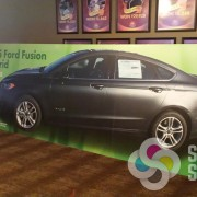 Brainstorming with Chewelah Casino for signs around their Ford Fusion giveaway was fun with this gator standee, it is 5'x15' free standing