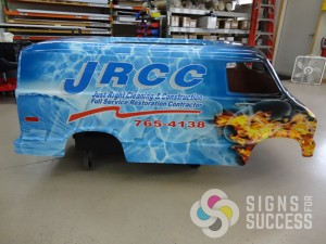 JRCC wanted their go kart to match fleet wraps, the go kart wrap is showcased at special events throughout the year in Moses Lake and Spokane