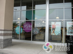 Nordstrom Rack foam core signs Spokane Valley, shape cut hanging signs, retail store signs