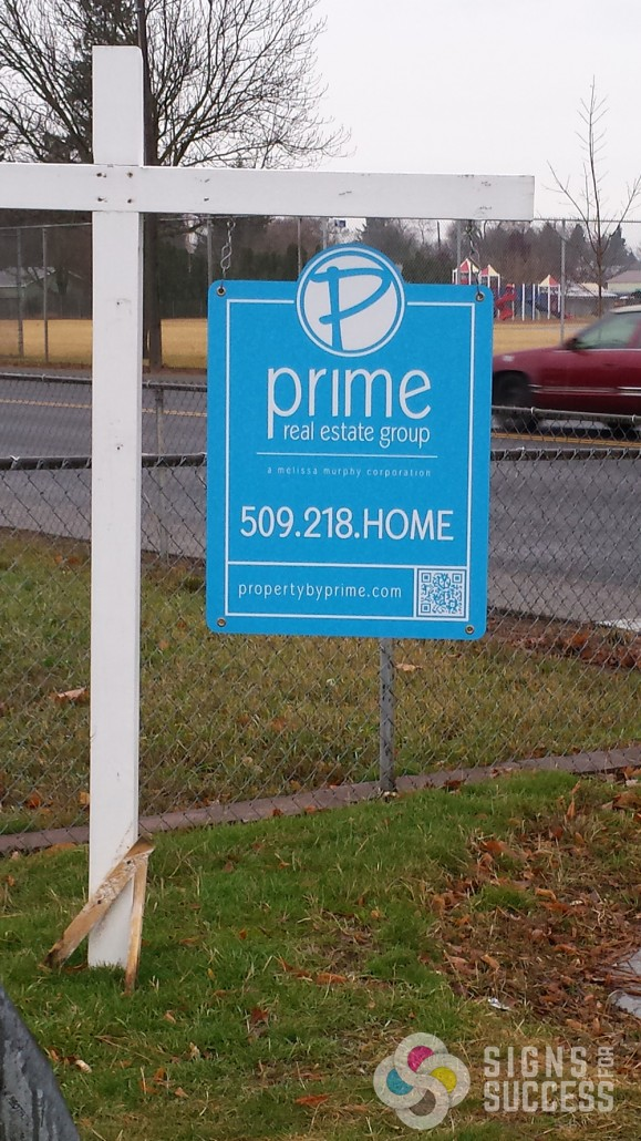 Realtor real estate signs can be made from coro or corex most often