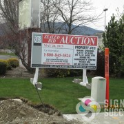 Realty skid sign is perfect for temporary advertising, skid signs spokane