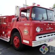 Restored fire truck with custom reflective vinyl decals HIllyard, where fast signs with great customer service is our niche
