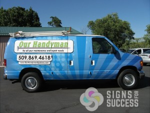 Contractor Van Wrap