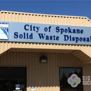 updated building wall signs, Brushed Aluminum building signs, call Signs for Success in Spokane