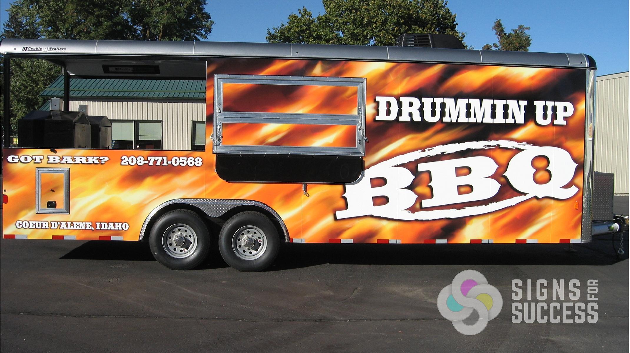Top Logo Design realtor logo design : Drummin Up BBQ Custom Concession Trailer Wrap - Signs for ...