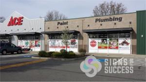 large custom window wrap, window graphics for retail store in Spokane