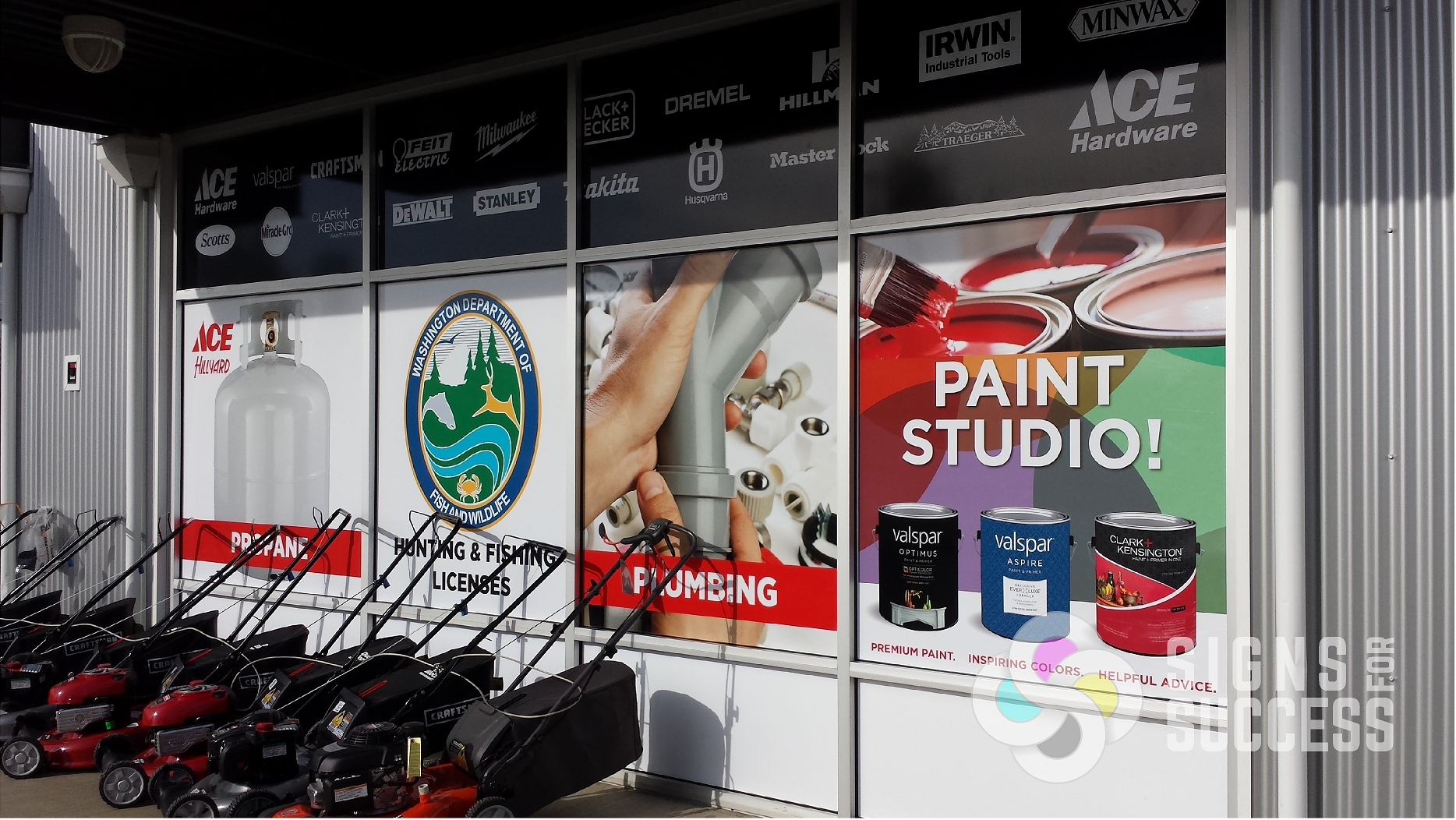 Window Wrap Showcases Products And Brands Signs For Success