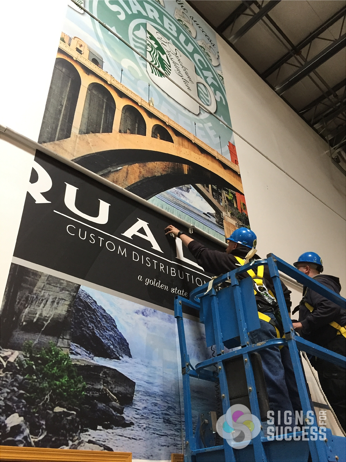 The Large Wall Mural Was Designed, Printed And Installed By Signs For  Success, Vinyl Part 93