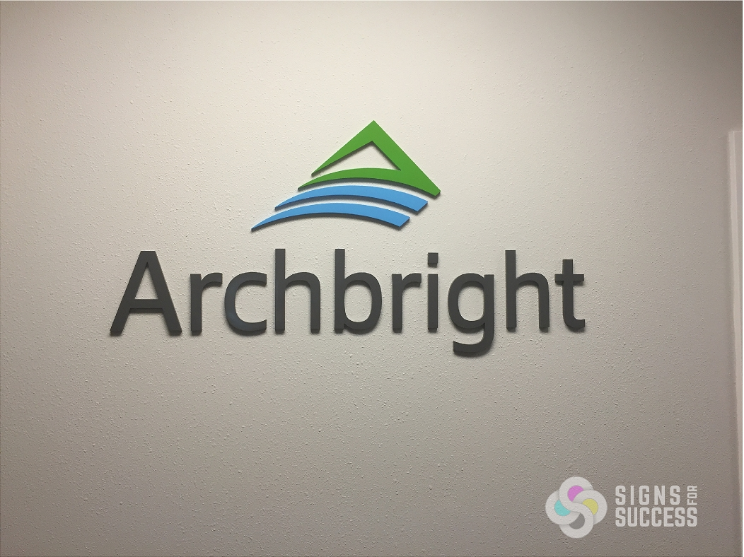 Logo Lobby Sign for Archbright Spokane