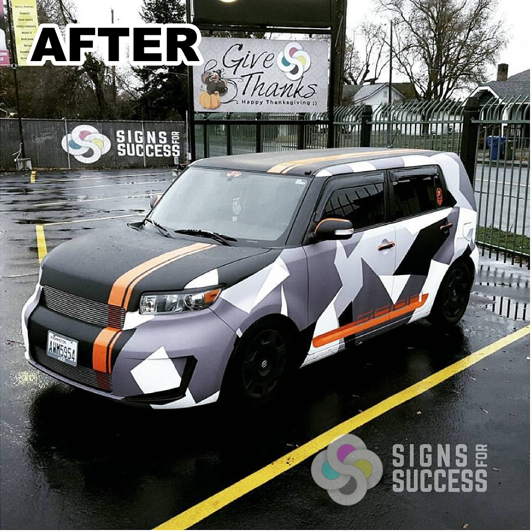 Custom Color Change Vehicle Wrap Scion Xb Signs For