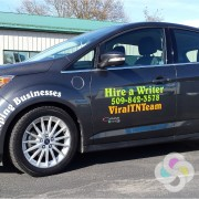 Custom vinyl car lettering Spokane