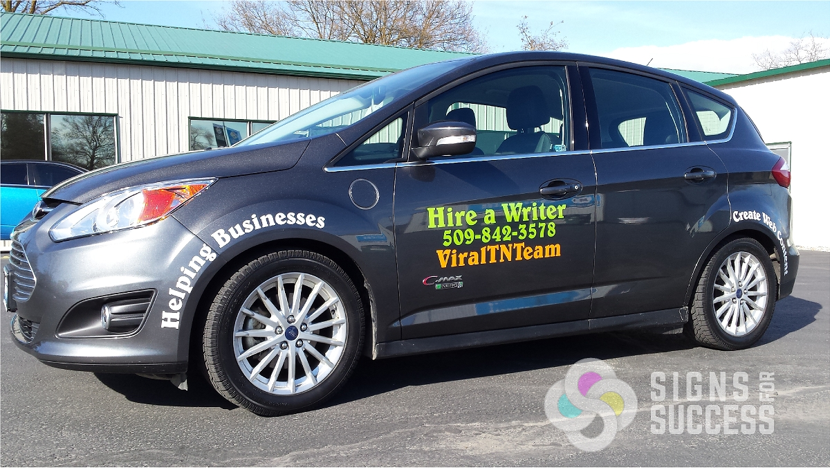 Vinyl Car Lettering gets a great response - Signs for Success