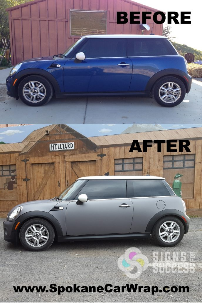 Mini Cooper Car Color Wrap