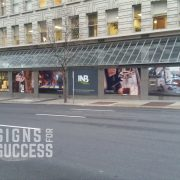 Exterior wall murals at INB downtown Spokane location, custom wall murals