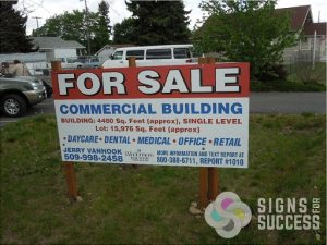 Commercial Real Estate Site Sign - Real Estate Signs