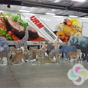 safari animal coro standees, custom event sign standees in Spokane
