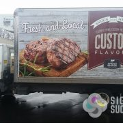 Food Truck Wraps -fleet rebranding for Angus Meats, food truck wrap printed and installed at Signs for Success in Spokane