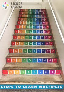 stair graphics decorate school stair risers in Spokane