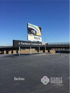 billboard banners - before photo - custom banners makeover