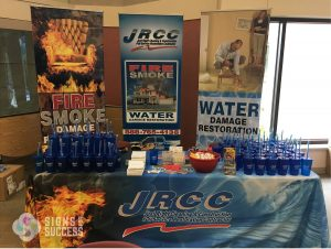 trade show display and ad specialty for contractor branding