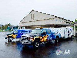 fleet graphics, truck wraps for contractor branding