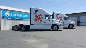 vinyl graphics installation fleet wraps, truck wraps spokane