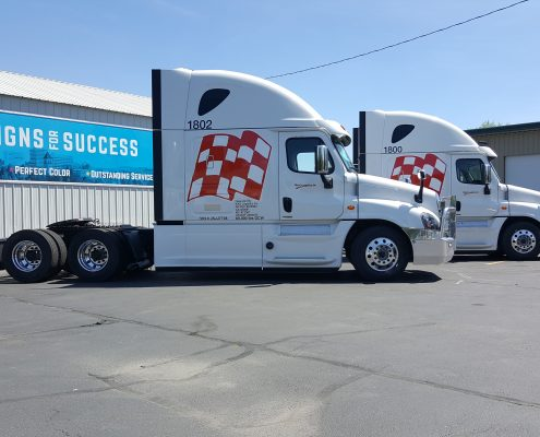 vinyl graphics installation fleet wraps, truck wraps spokane