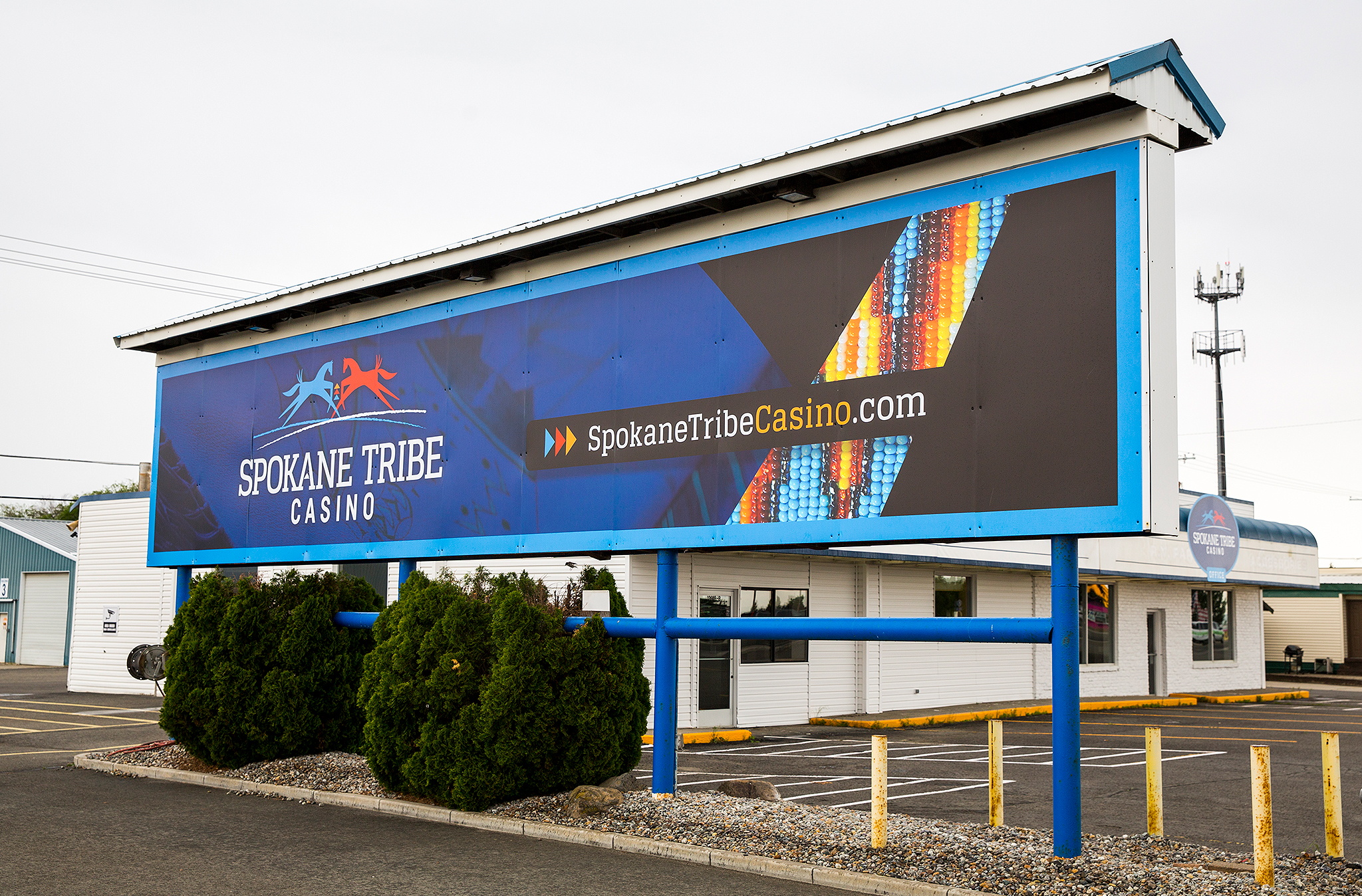 Temporary Fabric Wallpaper Outdoor Office Signs For Spokane Tribe Casino Signs For