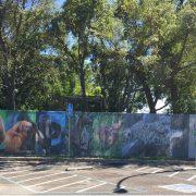 Custom Chain link fence slats zoo animals