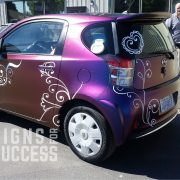 custom car wraps, color change wrap scion IQ