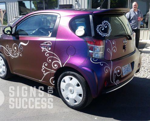 custom car wraps, color change wrap scion IQ