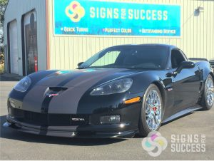 custom corvette racing stripes, matte racing stripes