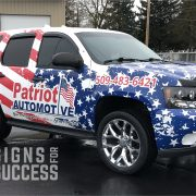 Stars & Stripes wrap on Chevy Tahoe