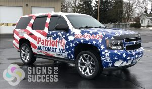 Patriotic Truck Wrap - Stars & Stripes wrap on Chevy Tahoe