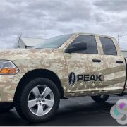 Digital Desert Camo vinyl wrap featuring American Flag
