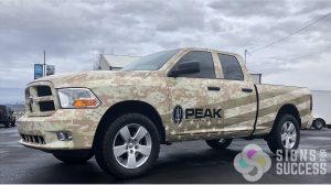 Patriotic Truck Wrap - Digital Desert Camo vinyl wrap featuring American Flag