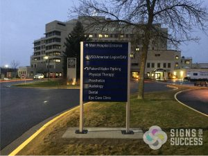 way finding signs installed at Mann-Grandstaff VAMC