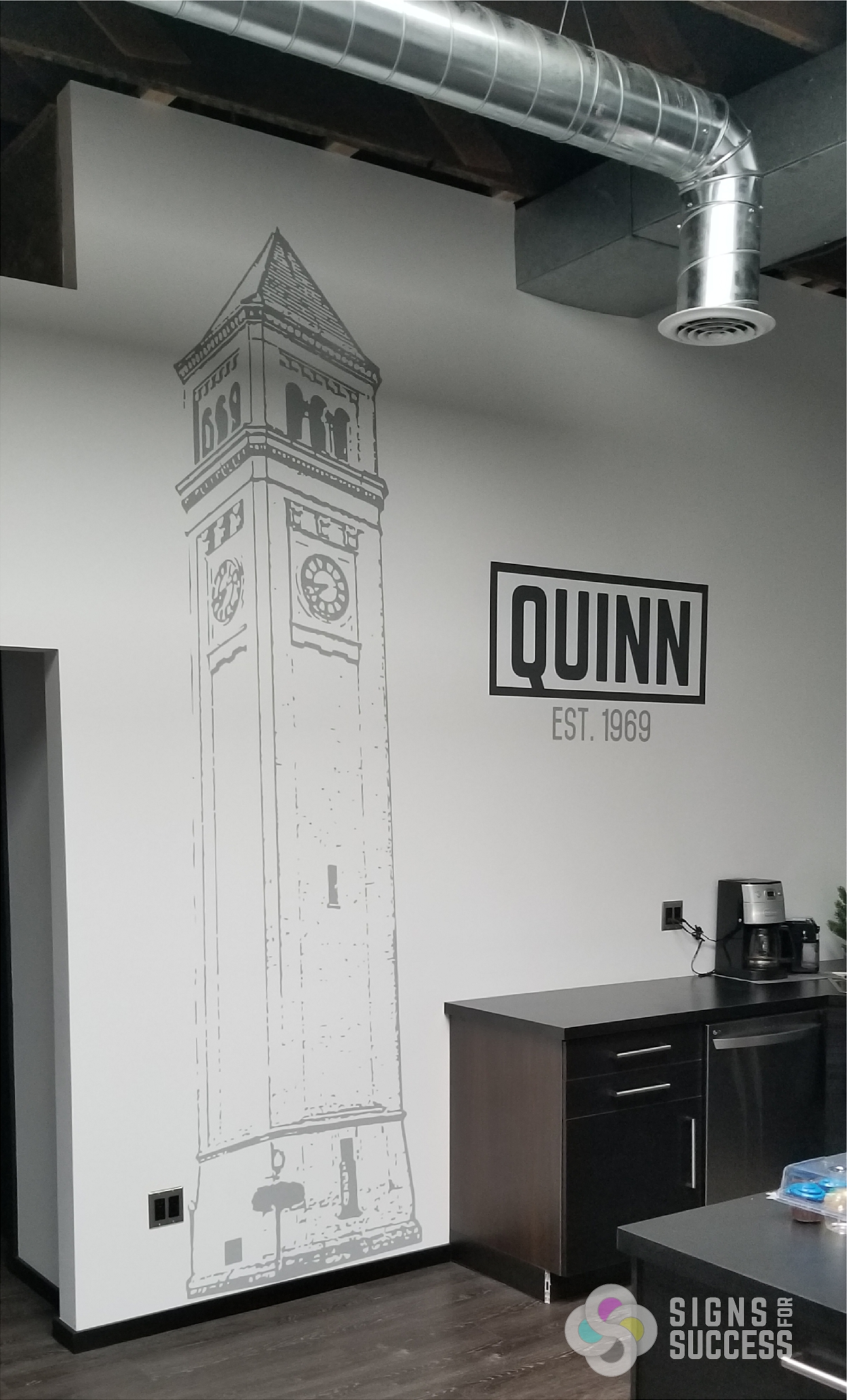 Quinn Clock Tower Wall Signs For Success