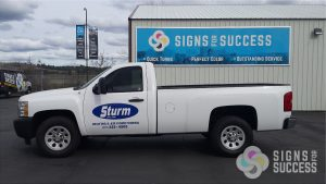 Vinyl Pick Up Lettering for fleet graphics