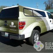 Partial Vinyl Wrap on Ford F150 Pickup Spokane