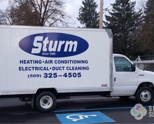 fleet graphics for Sturm Box Truck in Spokane